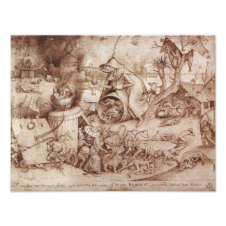 Zorn Anger by Pieter Bruegel the Elder Photographic Print