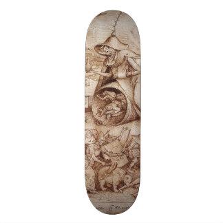 Zorn (Anger) by Pieter Bruegel the Elder Skateboard Decks