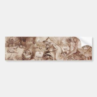Zorn (cólera) por Pieter Bruegel la anciano Pegatina Para Coche