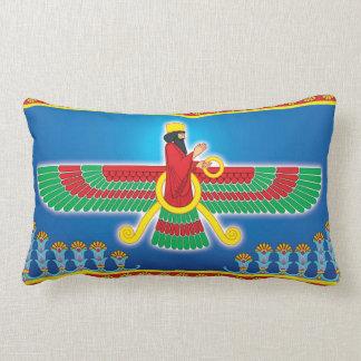 Zoroastrian Persian Faravahar Lumbar Pillow