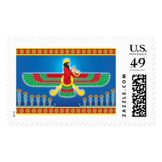 Zoroastrian Persian Faravahar Postage Stamps