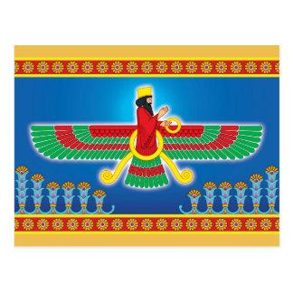 Zoroastrian Persian Faravahar Postcard