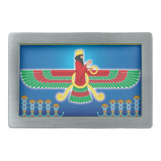 Zoroastrian Persian Faravahar Rectangular Belt Buckle