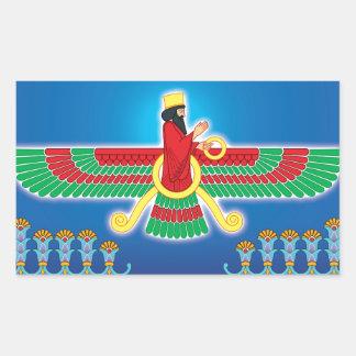 Zoroastrian Persian Faravahar Rectangular Sticker