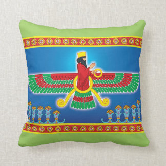 Zoroastrian Persian Faravahar Throw Pillow