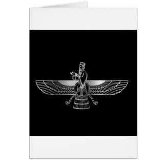 Zoroastrianism Faravahar Greeting Card