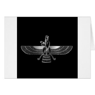 Zoroastrianism Faravahar Card