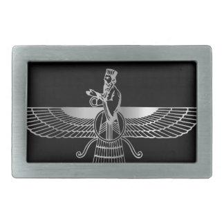 Zoroastrianism Faravahar Hebilla Cinturón Rectangular