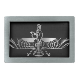 Zoroastrianism Faravahar Rectangular Belt Buckle