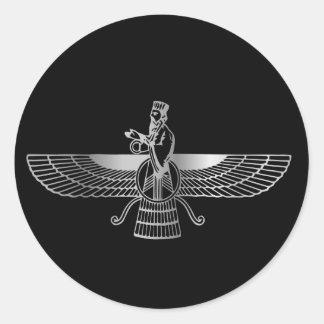 Zoroastrianism Faravahar Classic Round Sticker