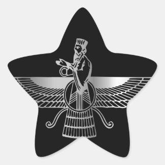 Zoroastrianism Faravahar Star Sticker