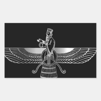 Zoroastrianism Faravahar Rectangular Sticker