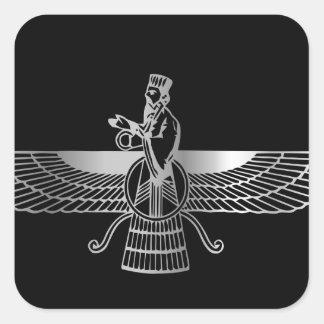 Zoroastrianism Faravahar Square Sticker