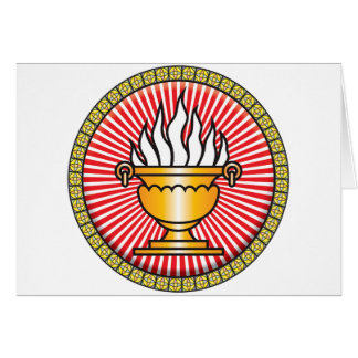 Zoroastrianism Icon Greeting Card