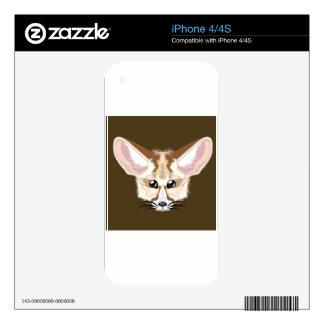 Zorro de Fennec Skins Para iPhone 4
