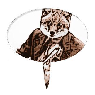 Zorro de la música del violín figura para tarta