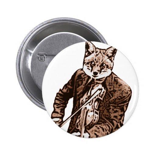 Zorro de la música del violín pin
