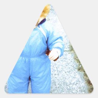 Zorro del bebé calcomanía triangulo