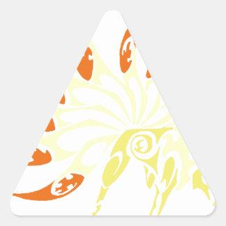 zorro del demonio pegatina triangular