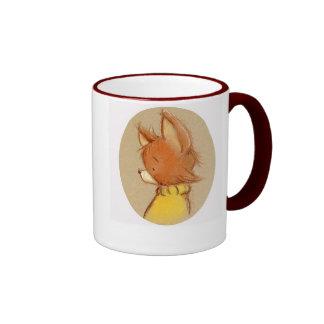 zorro en cuello alto taza de dos colores