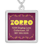 Zorro en el amarillo de Flores Collares