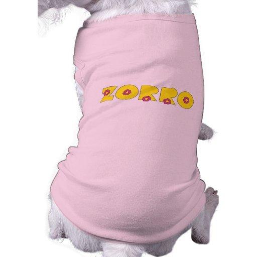 Zorro en el amarillo de Flores Prenda Mascota