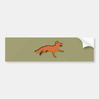 Zorro fox pegatina para auto