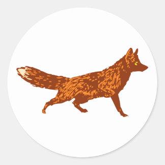 Zorro fox pegatina redonda