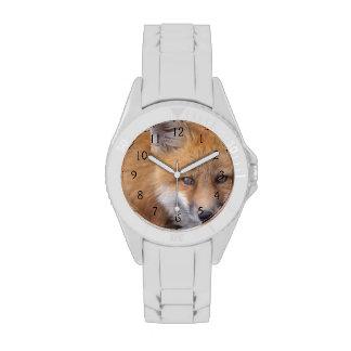 zorro rojo, vulpes del Vulpes, en colores de la Relojes De Pulsera