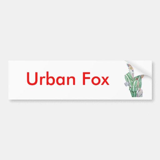zorro urbano pegatina de parachoque