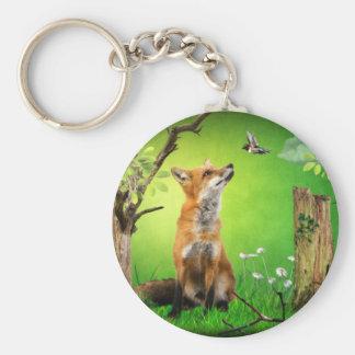 zorro y el pájaro del tarareo llaveros personalizados