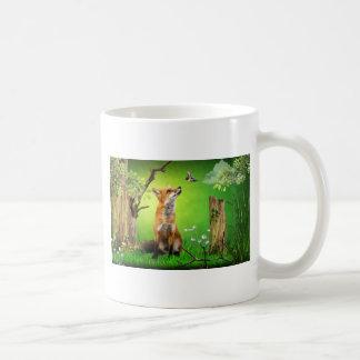 zorro y el pájaro del tarareo taza de café