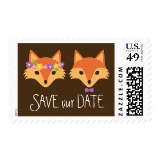 Zorros caprichosos del arbolado que casan reserva sellos postales