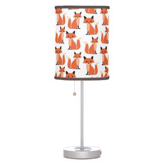 Zorros caprichosos retros lindos del inconformista lámpara de escritorio