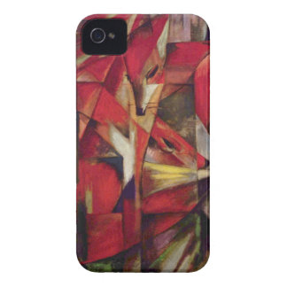 Zorros de Franz Marc, arte abstracto del cubismo Carcasa Para iPhone 4 De Case-Mate