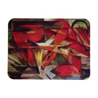 Zorros de Franz Marc, arte abstracto del cubismo Iman Rectangular