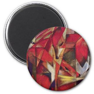 Zorros de Franz Marc, arte abstracto del cubismo Imán Redondo 5 Cm