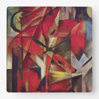 Zorros de Franz Marc, cubismo abstracto del Relojes De Pared