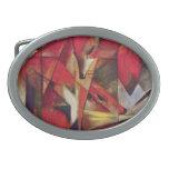 Zorros de Franz Marc, cubismo abstracto del vintag Hebilla De Cinturon Oval