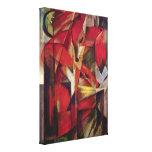 Zorros de Franz Marc, cubismo abstracto del vintag Impresión En Lienzo Estirada
