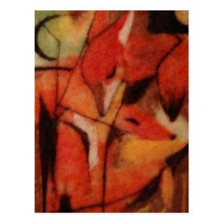 Zorros rojos tarjetas postales