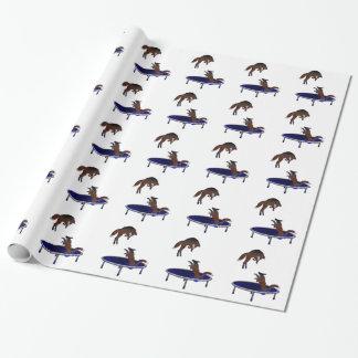 zorros trampolining papel de regalo