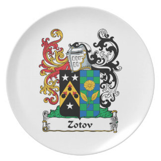 Zotov Family Crest Plate