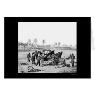 Zouave Ambulance Crew 1863 Card