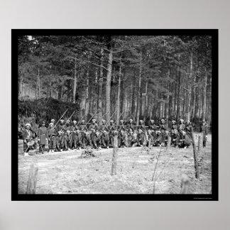 Zouaves Infantry 1864 Print