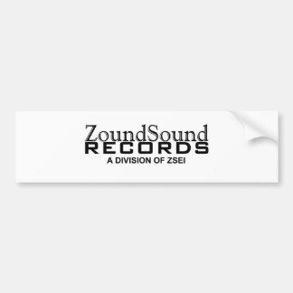 ZOUNDSOUND RECORDS LOGO BUMPER STICKER