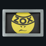 "ZOX Band - ZOXMAN - Belt Buckle<br><div class=""desc"">The Classic Round ZOXMAN Logo was ZOX's first logo ever, way back in 1998. You can probably still find it in your town, plastered to a telephone pole, as one of millions of ZOXMAN stickers that have been sold over the years. Enjoy it here on a bunch of cool new...</div>"