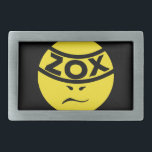 """ZOX Band - ZOXMAN - Belt Buckle<br><div class=""""desc"""">The Classic Round ZOXMAN Logo was ZOX's first logo ever, way back in 1998. You can probably still find it in your town, plastered to a telephone pole, as one of millions of ZOXMAN stickers that have been sold over the years. Enjoy it here on a bunch of cool new...</div>"""