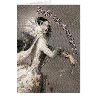 ZoZo la tarjeta de felicitación mágica de la reina