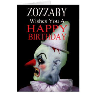 Zozzaby the Clown Birthday Card